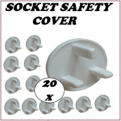 NEW 20 X BABY CHILDREN MAINS ELECTRIC PLUG SAFETY PROTECTOR SOCKET COVER