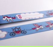 Infoband Wrist Band for Kids - Unicorns - Light Blue