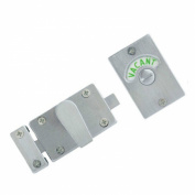 SATIN NICKEL - SN Indicator Bolt with Vacant / Engaged Bathroom Toilet Door Lock