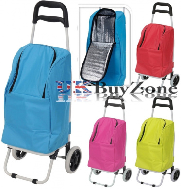 2 in 1 folding wheeled insulated shopping trolley cart cool cooler bag wheels by mts shop. Black Bedroom Furniture Sets. Home Design Ideas