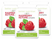 Raspberry Ketone Complex Fat Burner - 3 Month Supply - 180 Capsules