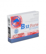 OLIMP B12 FORTE BIO-COMPLEX - 30 capsules - supplementing the diet with vitamin B12 helps maintain normal homocysteine metabolism, and also conducive to the proper functioning of the cardiovascular system, circulatory and nervous systems