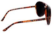 Pinhole Glasses for Eyesight Strengthening - Tortoise Shell Imitation