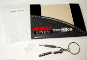 Essential Holiday Pack for Spectacle/Glasses - Pentax Cloth, Silicone Push on Nose Pads and Keyring Screw Driver Miniature Spanner/Flat Head/Phillips Cross Head