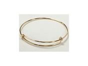 20cm - 24cm Adjustable 14Karat Gold-Filled Bangle Bracelet, 16 Gauge Wire