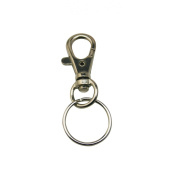 Chuzhao Wu 4.6cm Silver Colour Swivel Eye Lobster Snap Clasp Hook With 2.5cm Key Ring