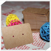 100pcs/lot kraft paper earring hang tags,jewellery display card, earring kraft paper tags,earring price tags 3.5X5cm