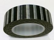 Black Sailor Stripe Japanese Washi Tape - *15mm x 15M* - TWILIGHT PARTIES