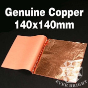 Genuine COPPER Leaf 25 sheets 14x14cm