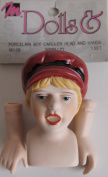 Mangelsen's Craft PACK of 1 SET of PORCELAIN 'BOY CAROLER' DOLL HEAD 5.1cm and PAIR of HANDS Each 2.5cm - 1.9cm Long