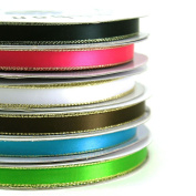 Satin Ribbons Gold Edge 1cm (Spool of 50 Yards)