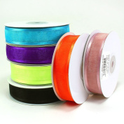 Organza Satin Edge Ribbons 2.2cm (Spool of 25 Yards)