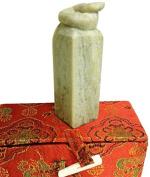 Yuemei Zodiac Snake Jade Stamp, Small