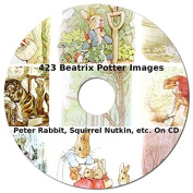 423 Beatrix Potter Images from Peter Rabbit, Squirrel Nutkin, Jemima Puddle-Duck, etc