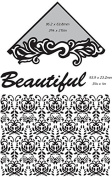 Ultimate Crafts 2-in-1 Embossing Folder, Beautiful-Delilah