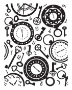 Ultimate Crafts Allura Collection Embossing Folder, Time Piece