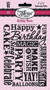 HOTP Paper Artist Birthday Words Embossing Folder HOTP6016