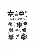 Crafts-Too Crafts-Too Embossing Folder, Let It Snow