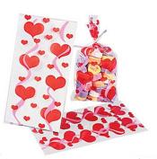 Cellophane Valentine Mini Goody Bags