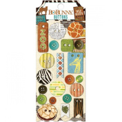 BoBunny Safari Buttons Scrapbook Embellishments
