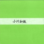 Ogawa(hosokawa) Washi Single Colour Paper 25cm(9.84 In), No.28 Bright Green, 50sheets