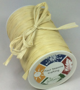 Four Seasons Crafting Matte Finish Raffia Ribbon 0.6cm X 100 Yds. Natural