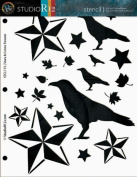 Harvest Stencil - Stars and Crows Forever