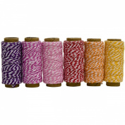 Hemptique Baker's Twine Mini Spool Spring Fling, 6-Pack
