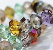 72-1-29 100per Assorted China Top AAA Quality 5040 Assorted Crystal Beads 4mm 6mm 8mm 10mm Faced Glass Beads Crystal Rondelles Beads