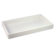 "Stackable Plastic Utility Tray 3.8cm ""H White Jewellery Display"