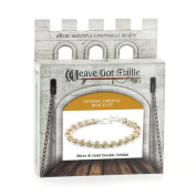 Weave Got Maille Double Orbital Barrel Chain Maille Bracelet Kit, Gold and Silver