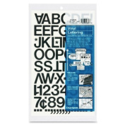 Chartpak 2.5cm Self Adhesive Vinyl Letters and Numbers, Black
