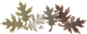 Metal Paper Fasteners 25/Pkg-Leaf/Antique
