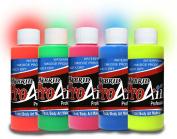 Face Painting Makeup - ProAiir Waterproof Makeup - Set of 5 Fantastic 2.1 oz (60ml) Fluorescents