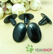 22mmx15mm Black Oval Safety Eyes / Plastic Eyes - 20 Pairs
