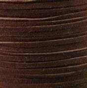 #812 Medium Brown-Flat Suede Lace 2mm x 50m