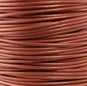 "#43 Metallic Copper Round Leather Cord 1.5mm (1/64"") x 10 metres"