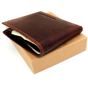 Men Money Vintage Genuine Italian Leather Slim Wallet Coin Natural Pocket Purse Au Retro Style.