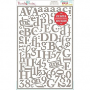 Hazel & Ruby La Patessiere with Numbers Stencil Mask Peel Away Alphabet Sheets, 30cm by 20cm , 2-Pack