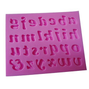 Handwritten Lowercase English Alphabet Letters Shaped 3d Silicone DIY Mould Mould Tray Fondant Cake Cookie Baking Mould Soap Mould Mould Tray DIY Silicone Decoration Mould Clay Sculpture Shaping Mould Tools