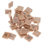 100 Wooden Scrabble Tiles