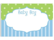 50 pack Baby Boy FrameNo Sentiment Enclosure Cards