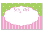 50 pack Baby Girl FrameNo Sentiment Enclosure Cards