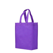 Reusable Gift / Party / Lunch Tote Bags - 25 Pack - Purple