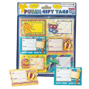 3D Purim Gift Tags / 12 Pack