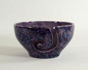 Ceramic Yarn Bowl Purple