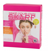 Authentic Knitting Board Skarf Kit/Glitter Yarn, Pink