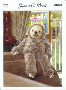 James Brett Chunky Knitting Pattern Laid Back Larry Sloth Toy in Faux Fur Yarn