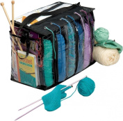 Knitting Tote Bag Needles Yarn Crochet Afghan Needles Hook Knitter Organiser