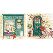 Dimensions Crafts 70-35317 Afternoon in Provence Counted Cross Stitch Kit